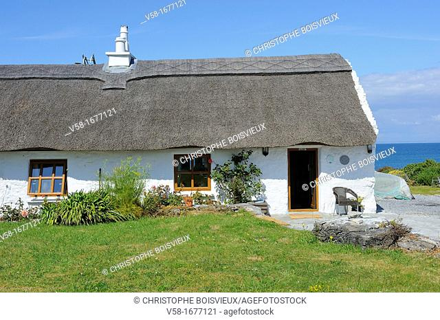 Ireland, County Galway, Aran Islands, Inishmore, Kilmurvey, The B and B, Man of Aran Cottage