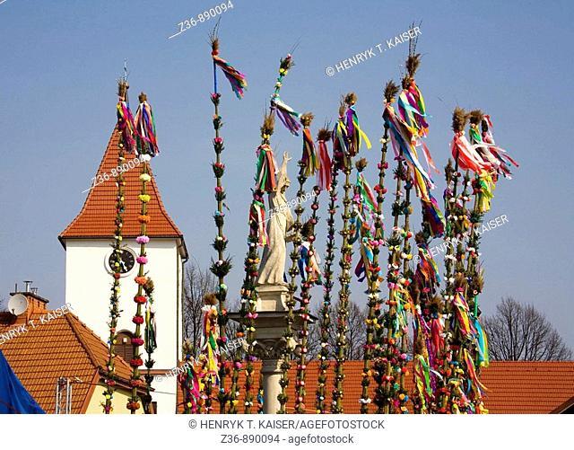 Easter Sunday, tallest Palms Contest in Lipnica Murowana, Poland