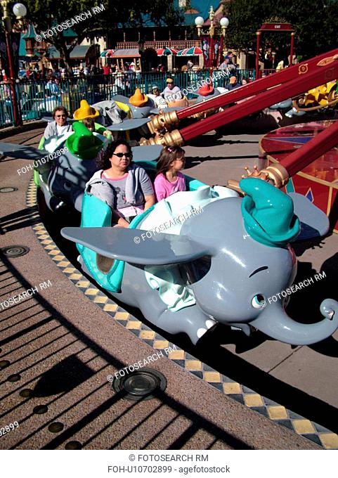 Orlando, FL, Florida, Walt Disney World Resort, Magic Kingdom Park, Dumbo The Flying Elephant Ride, carousel (Editorial Use Only)