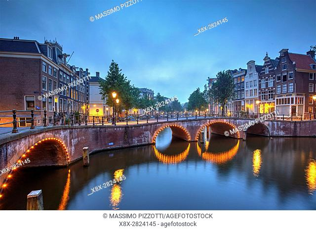 Traditional canals in Amsterdam, Netherlands