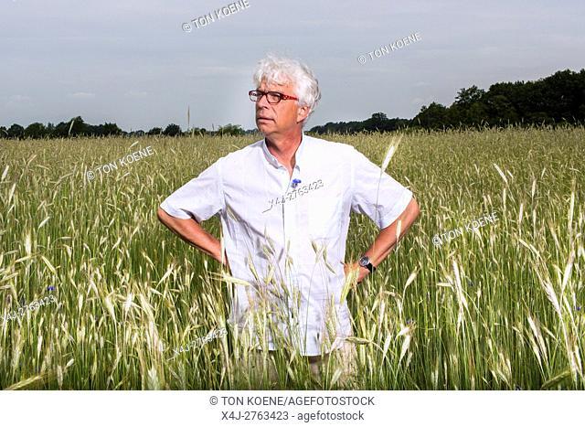 Dutch farmer in his field