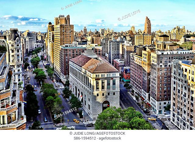 Aerial View of Upper West Side, New York, NY, USA