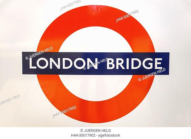 United Kingdom, England, London, London Bridge Metro Station, Tube