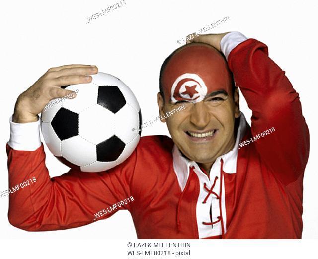 male tunesian soccer fan