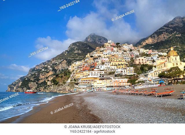 Positano, Coast of Amalfi, Salerno, Campania, Italy