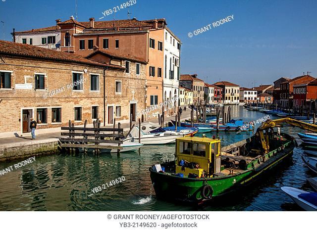 Canal Scene, Murano Island, Veneto, Italy