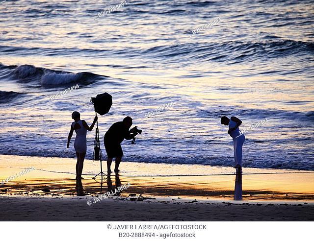 Wedding photo, Beach, Hendaye, Aquitaine, Pyrenees Atlantiques, France