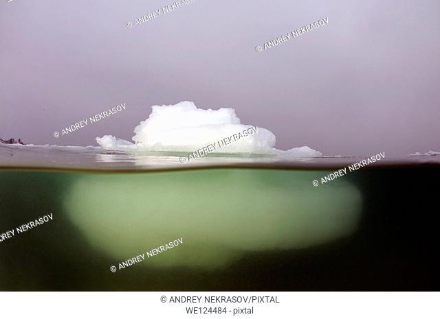 Iceberg in the Black Sea, which was last frozen in 1977, Odessa, Ukraine, Eastern Europe