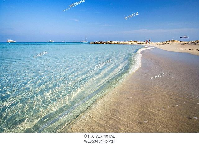 Beach of Ses Illetes, Formentera. Balearic Islands, Spain