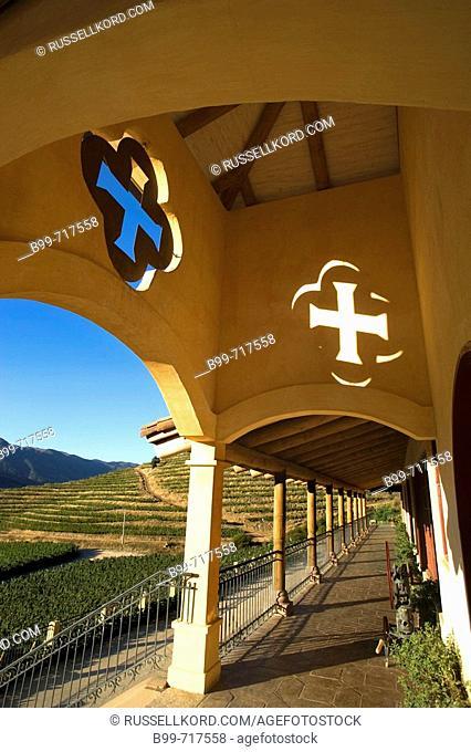Porch Hacienda Vina Santa Cruz Winery Colchagua Valley Chile