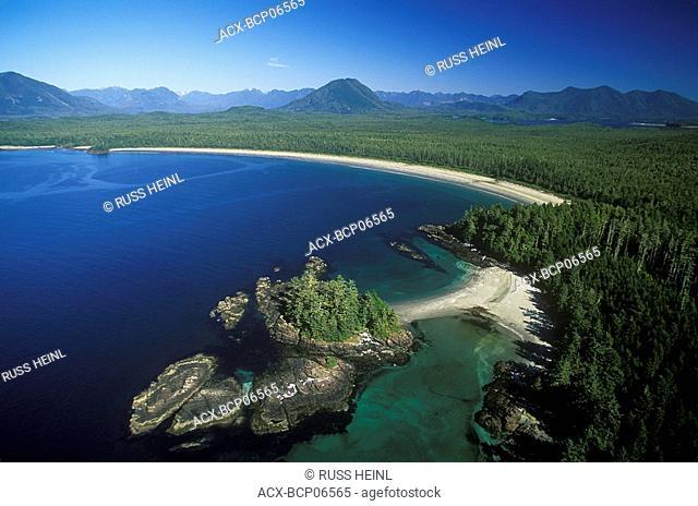Aerial of Clayoquot Sound UNESCO Biosphere Reserve, British Columbia, Canada