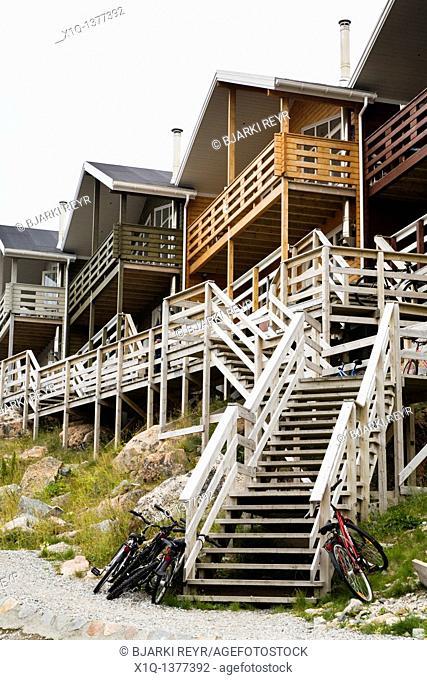 Houses in Qaqortoq Julianehåb, South Greenland