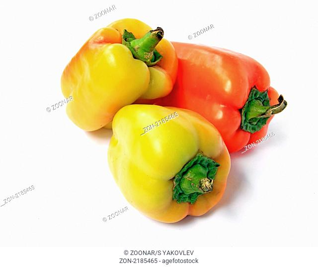 pepper on white background