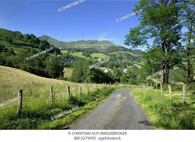 Mandailles valley, Parc Naturel Regional des Volcans d'Auvergne, Auvergne Volcanoes Regional Nature Park, Cantal, France, Europe