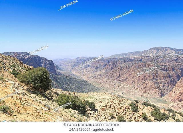 Mountains of the Dana Nature Reserve, Jordan