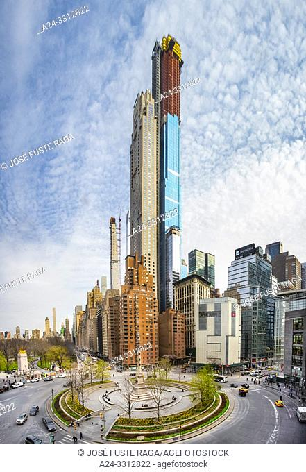 USA, New York City, Manhattan, MIdtown, Columbus Circle and Central Park