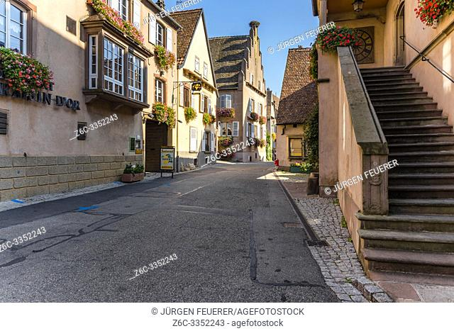 houses of Mittelbergheim, village of the Alsace Wine Route, member of most beautiful villages of France