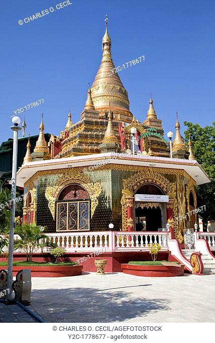 Myanmar, Burma  Buddhist Shrine at the Zayar Thein Gyi Nunnery, near Mandalay