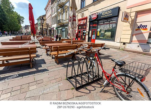 The city center pedestrian zone, Hlavna street, Kosice, Slovakia, Europe