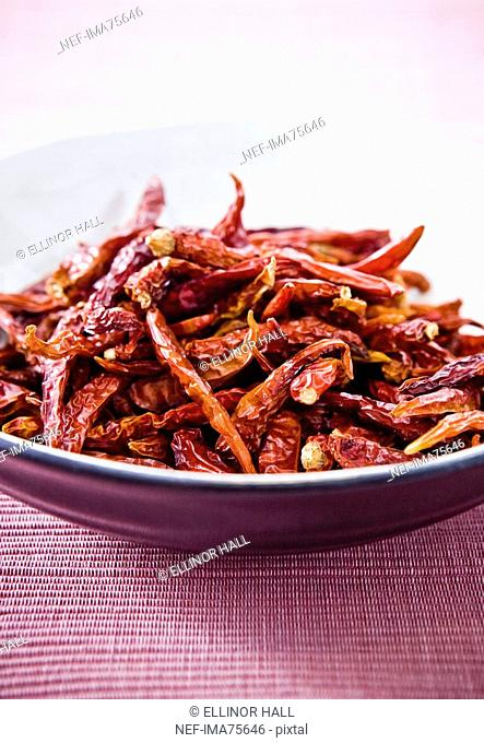 A bowl of dried chili, Sweden