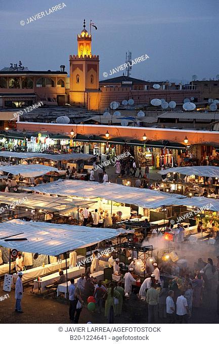 Djemaa El Fna Square, Marrakech, High Atlas, Morocco