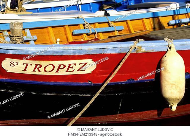 France, Var, Saint Tropez, St Tropez boat