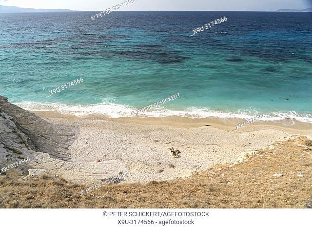 Strand Pasqyra Beach zwischen Saranda und Ksamil, Albanien, Europa | Mirror or Pasqyra Beach between Sarande and Ksamil, Albania, Europe