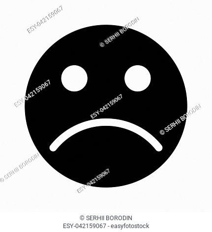 Sad emoticon it is black color icon
