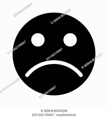 Sad emoticon it is black color icon