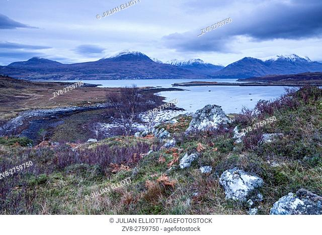 Upper Loch Torridon in Wester Ross, Scotland