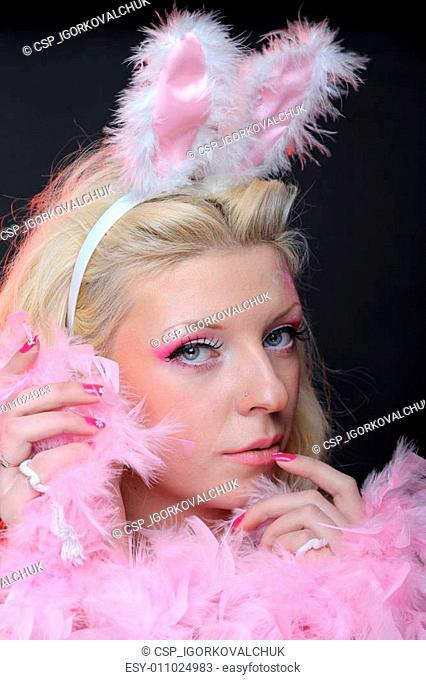 Female in playboy costume