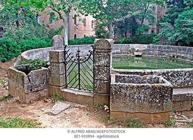 Water tank from 'El Santuari del Miracle', sanctuary, Solsones, Catalonia, Spain