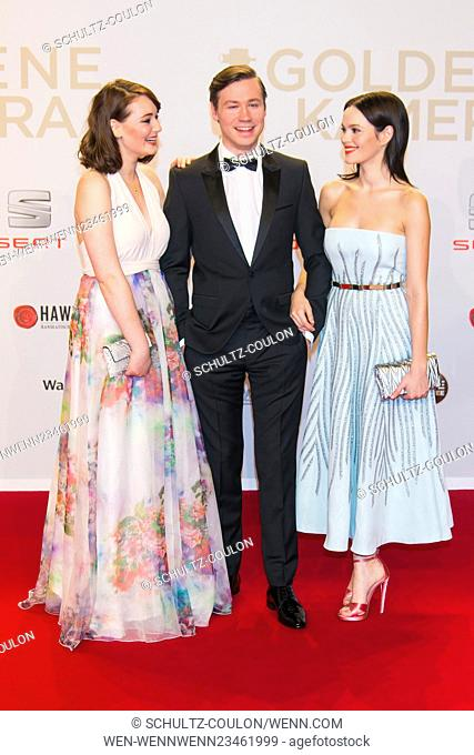 "Celebrities attending the """"Goldene Kamera 2016"""" in Hamburg Featuring: Maria Erich, David Kross, Emilia Schuele Where: Hamburg"