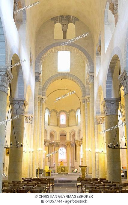 Saint Nectaire church, Puy de Dome, Auvergne, France