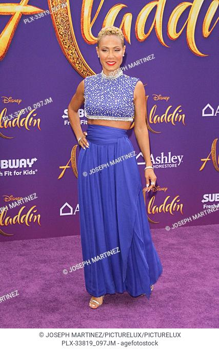 "Jada Pinkett Smith at The World Premiere of Disney's """"Aladdin"""" held at El Capitan Theatre, Hollywood, CA, May 21, 2019"