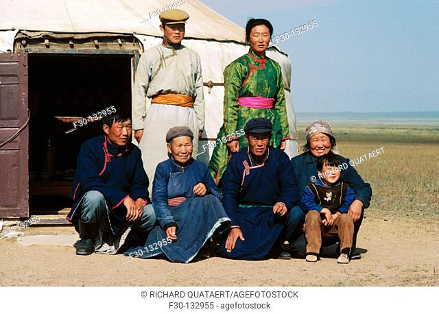Family. Inner Mongolia. China