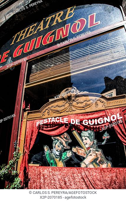 Puppets in the city of Lyon. France, Rhone, Lyon, historical site listed as World Heritage by UNESCO, Vieux Lyon Old Town