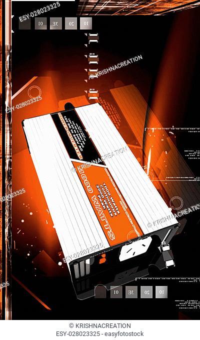 Digital illustration of inverter in colour background