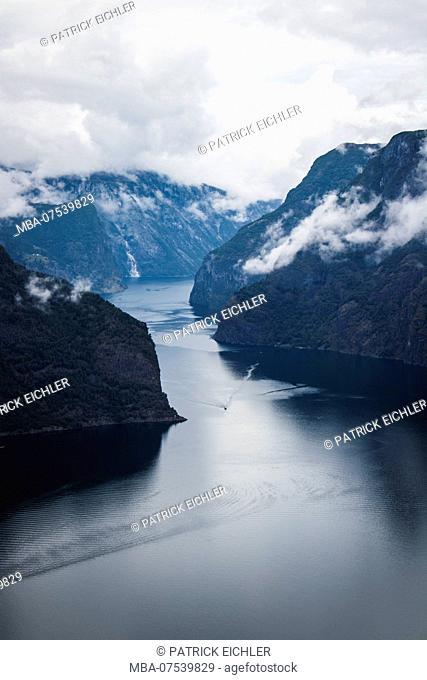 Norway, Aurland, Aurlandsfjord