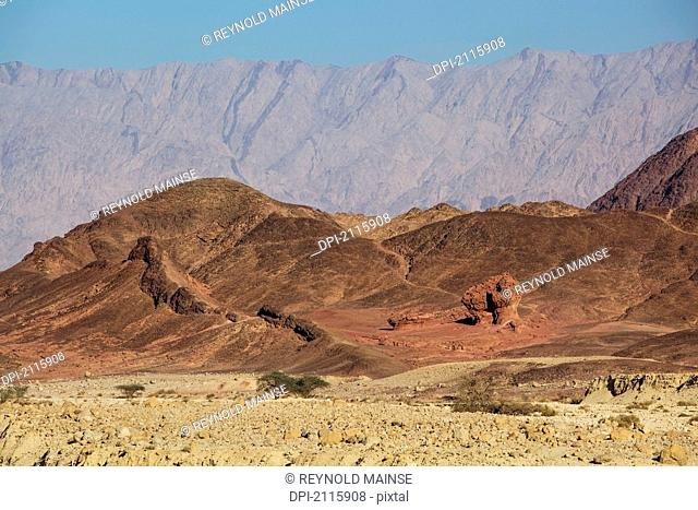 Mountains and rock formation in the timna valley, timna park arabah israel