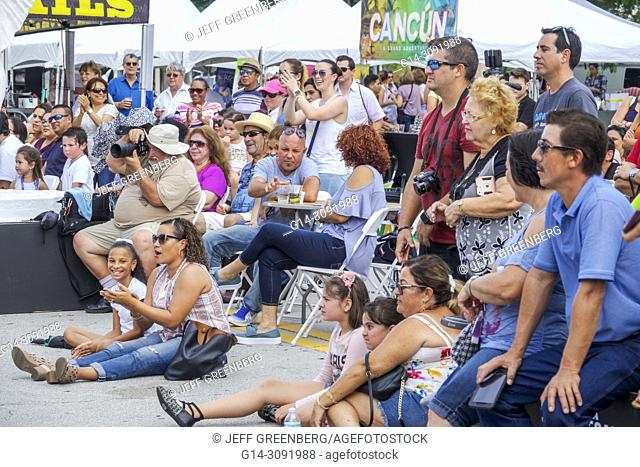46c61d8a8 Florida, Coral Gables, Hispanic Cultural Festival, Latin American event,  performance, audience