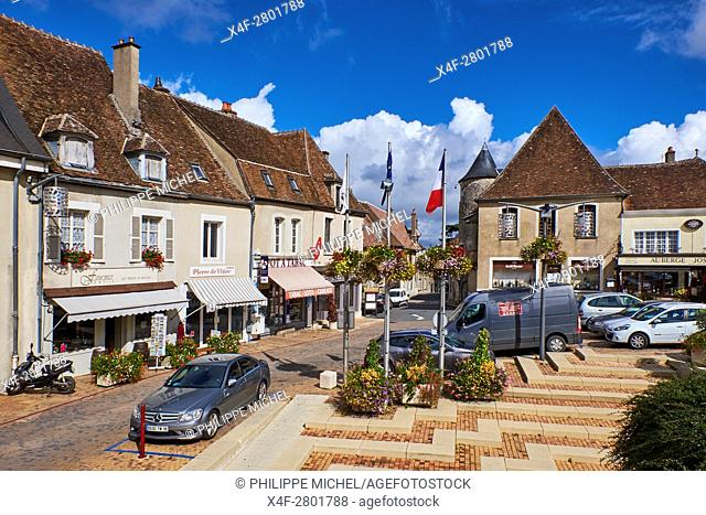 France, Cher 18, Sancerre village