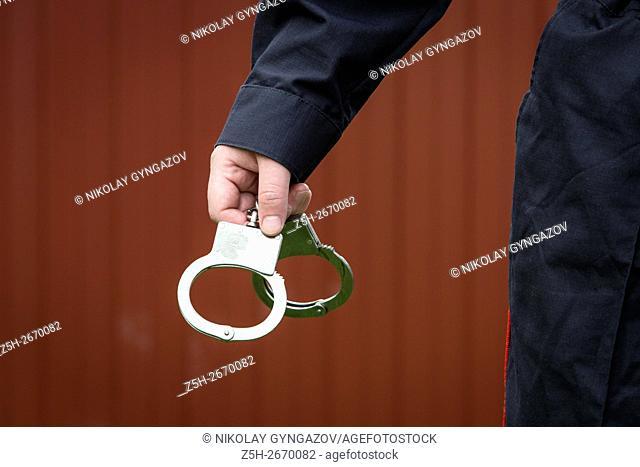 Russia. Handcuffs police