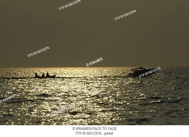 Water sports on the sea, Thailand, Pattaya