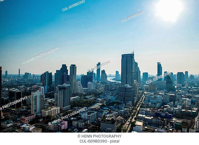 Business district Sathorn, Silom, Bangkok