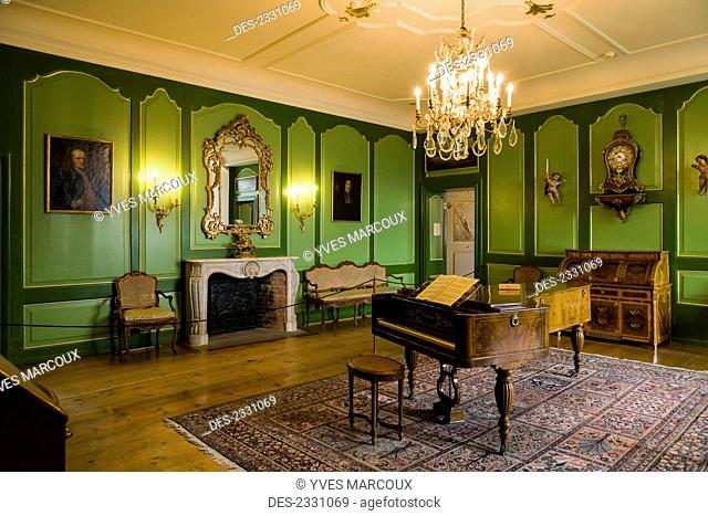 Interior of Chateau de Gruyeres; Gruyeres, Switzerland
