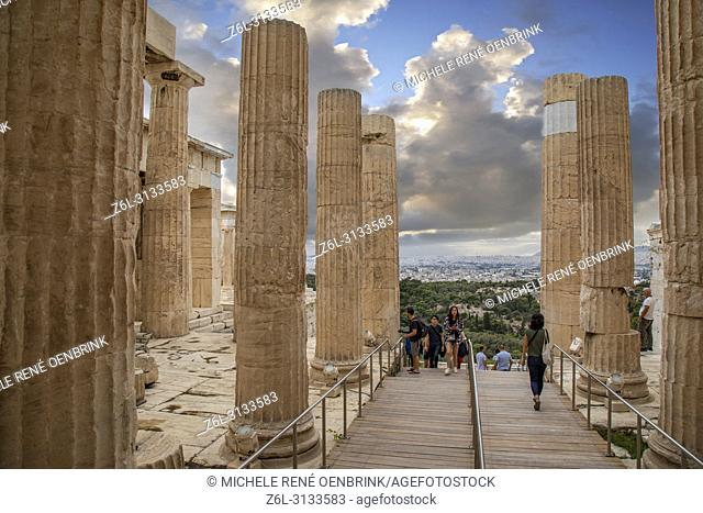 The Propylaea on the Acropolis, UNESCO World Heritage Site, Athens, Greece, Europe