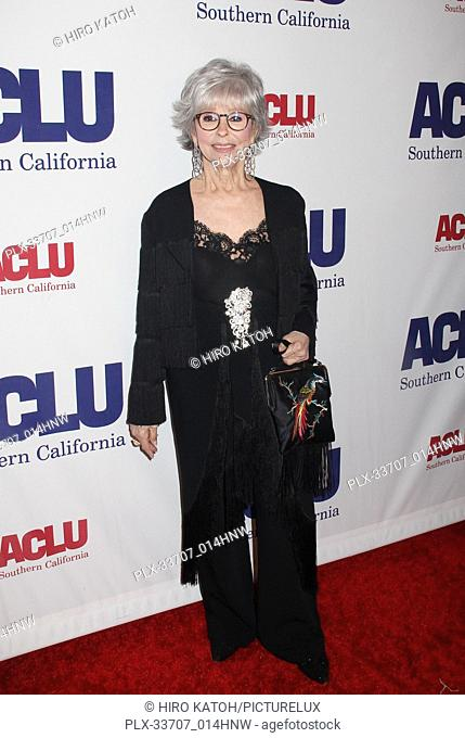 Rita Moreno 11/11/2018 The ACLU SoCal's Annual Bill of Rights Dinner held at The Beverly Wilshire Hotel in Beverly Hills