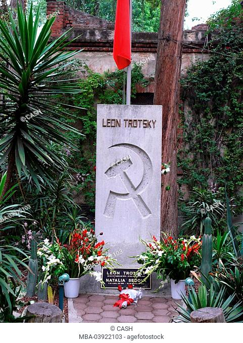 Mexico, Mexico-city, Coyoacan, Museo-Casa-de-Leon-Trotsky,inner ward, garden, monument, house, museum-buildings, court, patio, culture, exhibition, exile