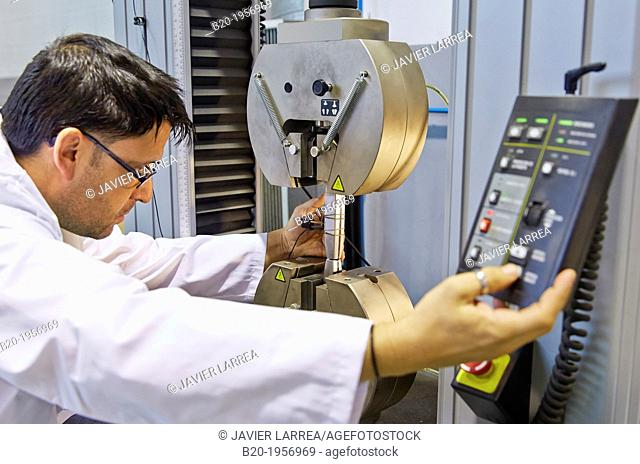 Traction test. Mechanical Testing Laboratory. Technological Services to Industry. Tecnalia Research & Innovation, Donostia, San Sebastian, Gipuzkoa